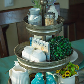 Country Farmhouse Dining Table Design by Mike Zegelien - Food & Drink Eating ( farmhouse, country, nicknacks, centerpiece, food, table )