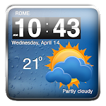 Cool Weather Clock Widgets APK Image