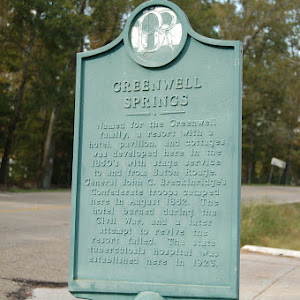 Named for the Greenwell family, a resort with a hotel, pavilion and cottages was developed here in the 1850's with stage service to and from Baton Rouge. General John C. Breckinridge's Confederate ...