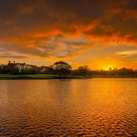 Rolling Front by Dave Sansom - Landscapes Sunsets & Sunrises ( dave sansom, beautiful skies, east lake golf club, sunrise:dawn:sunup, :golfscapes, atlanta, landscape, pga championship )