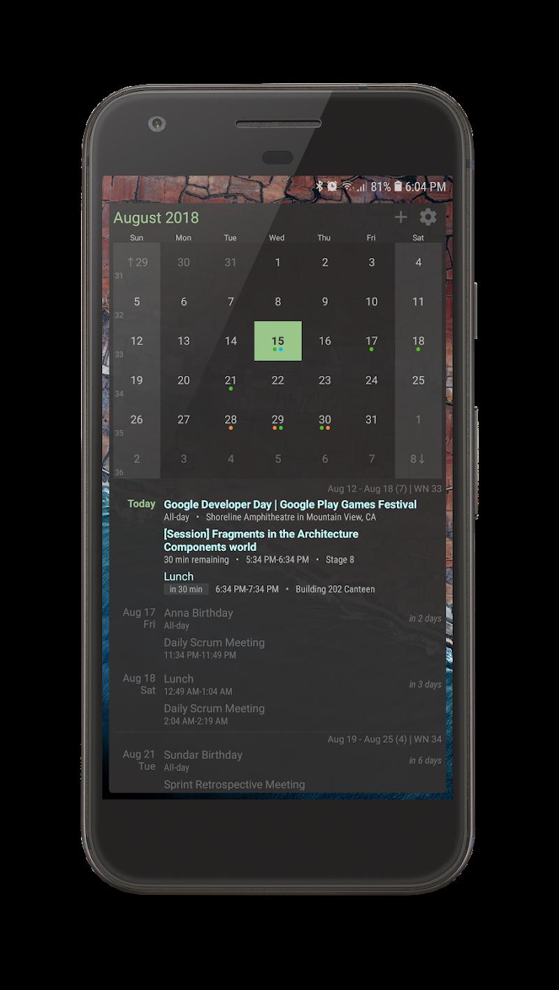 Your Calendar Widget Screenshot 1
