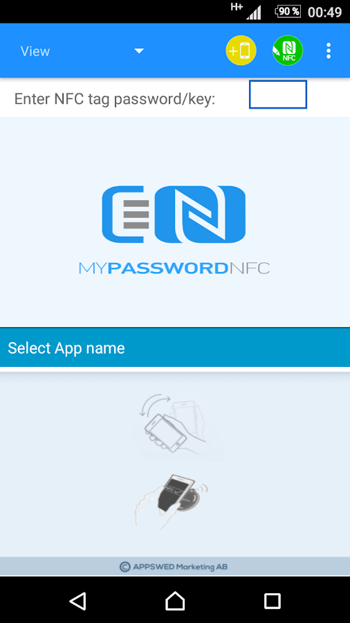NFC Tools - myPasswordNFC Screenshot 1