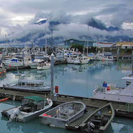 Valdez Marina by Linda Woodworth Sulla - Transportation Boats