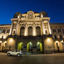 Oradea's hall. Beautiful building by Amy Gherdan - Buildings & Architecture Architectural Detail ( hall, oradea, night, photo, beautiful city )