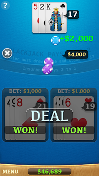 Blackjack 45162 APK screenshot thumbnail 3