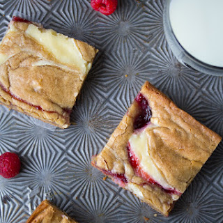 Brown Butter Raspberry Swirl Cheesecake Blondies