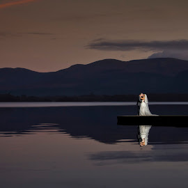 Moonlight by Adrian O'Neill - Wedding Bride & Groom ( water, love, wedding photography, bride, groom )