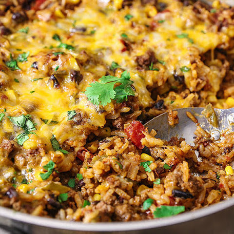 One Skillet Mexican Rice Casserole