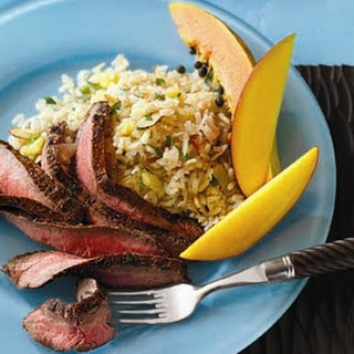 Caribbean Flank Steak with Coconut Rice
