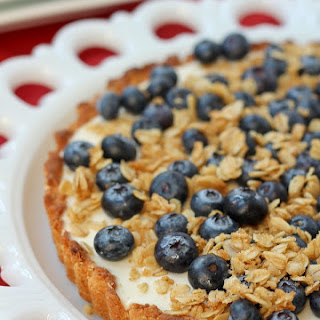 Yogurt Tart with Oat Crust and Crunchy Oat Topping