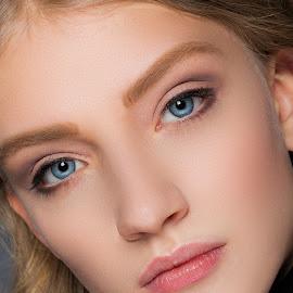Russian Beauty by Michael Strobl - People Portraits of Women ( face, blonde, blue eyes, beauty, pretty )