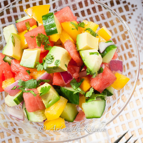 Cucumber Watermelon Summer Salad