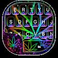 Glow Rasta Weed Keyboard Theme