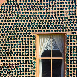 Bottle house by Gale Perry - Buildings & Architecture Architectural Detail ( death valley, old, patterns, window, house, bottle,  )