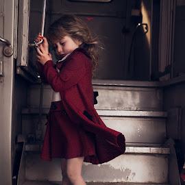 Outbound by Terry Pitman - Babies & Children Child Portraits ( st louis, vintage, emotional, movement, train, adorable, cute )