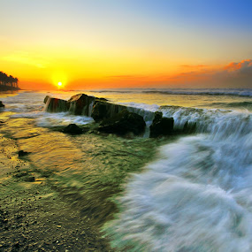 Wave Barrier by Alit  Apriyana - Landscapes Sunsets & Sunrises
