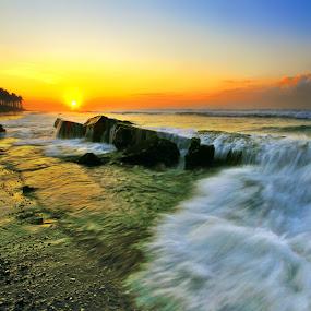 Wave Barrier by Alit  Apriyana - Landscapes Sunsets & Sunrises