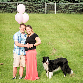by Bonnie Filipkowski - People Couples ( maternity, announcement, 2016, baby, dog )