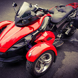 My Can- Am Spyder RS, Front Left View by Paul Milligan - Transportation Motorcycles ( motorbike, trike, vehicle, motorcycle, transportation,  )