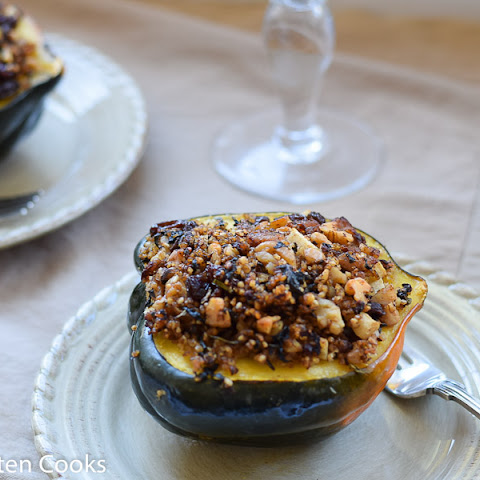 Acorn Squash Stuffed With Sausage and Apples