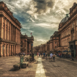 Grey Street by Adam Lang - City,  Street & Park  Historic Districts ( england, street, newcastle, architecture, grey street )