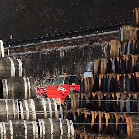 by Alan Reardon - Artistic Objects Other Objects ( bond, menstrie, barrels, cambus, whisky )