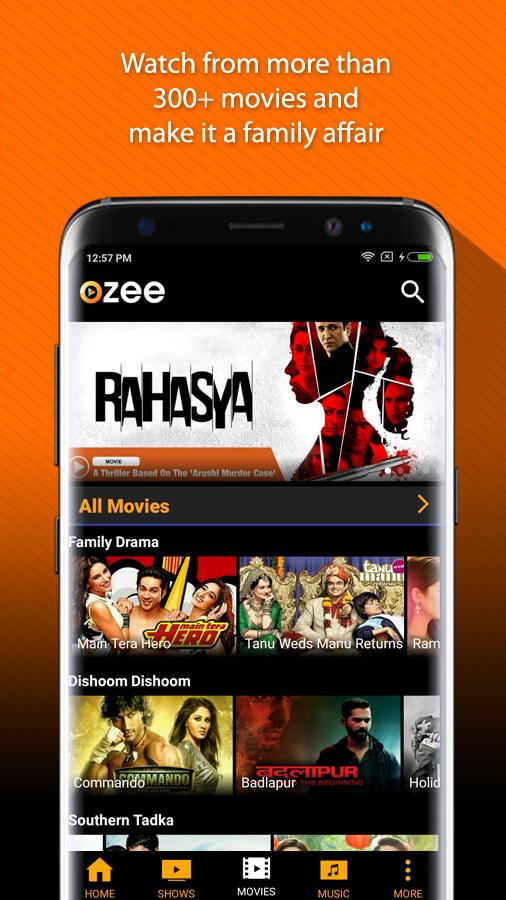 OZEE Free TV Shows Movie Music Screenshot 2