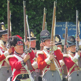 32nd Regiment at Bodmin Heritage Day by Angie Keverne - People Musicians & Entertainers ( solidiers, guns, park, entertainers, heiritage day )