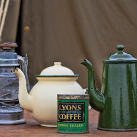 Vintage coffee by Lorraine Robins - Food & Drink Ingredients ( teapot, vintage, still life, coffee, historical )