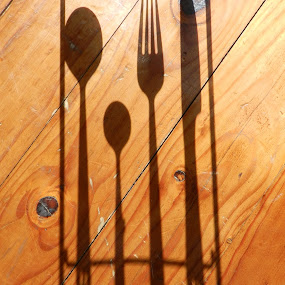 Cutlery by Kirsty Wilkins - Novices Only Objects & Still Life ( forks, spoons, cutlery, knives, shadows )