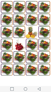 Matching fruits and vegetables - screenshot