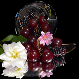 fruits with flowers by LADOCKi Elvira - Food & Drink Fruits & Vegetables