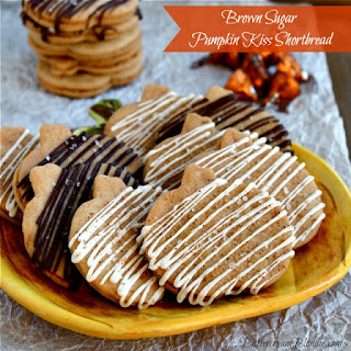 Brown Sugar Pumpkin Kiss Shortbread Cookies