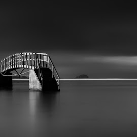 Bridge to Nowhere by Stuart Sinclair - Black & White Buildings & Architecture