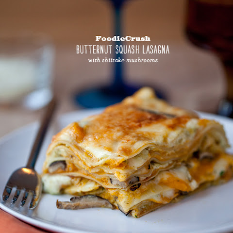 Butternut Squash Lasagna with Shiitake Mushrooms
