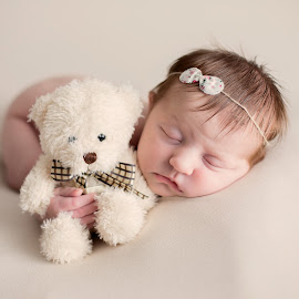 newborn photography teddy bear by Emma Thompson - Babies & Children Babies ( baby portrait, newborn photography, newborn shoot, baby girl, baby, baby photography, newborns, newborn )
