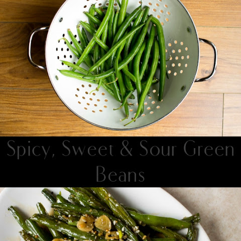 Spicy, Sweet and Sour Green Beans