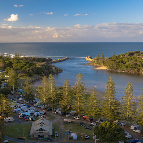 Crowded tranquility by Mark Luyt - Landscapes Waterscapes ( camping, ocean, beach, crowded, river, long weekend, friends,  )