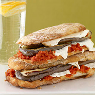 Eggplant and Mozzarella Panini