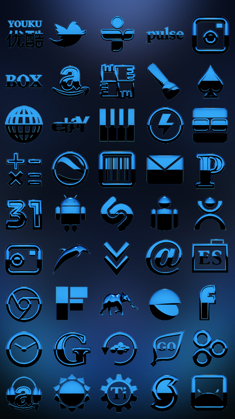 A-BLUE Next Launcher 3D Theme Screenshot 3