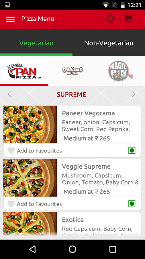 Pizza Hut India Screenshot 1