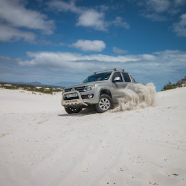 Big Boys, playing in the Dunes. by Lanie Badenhorst - Sports & Fitness Motorsports ( #playingwithamarok, #4x4inthedunes )