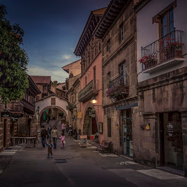 by Ole Steffensen - City,  Street & Park  Street Scenes ( poble espanyol, street, night, architecture )