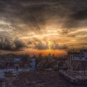 Sunset at Rajshahi by Shadat Hossain - Instagram & Mobile iPhone