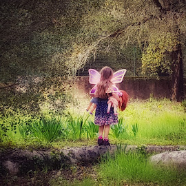 Little farden fairy by Carole Sims - Babies & Children Children Candids ( children, fairytale, garden, girl, child )