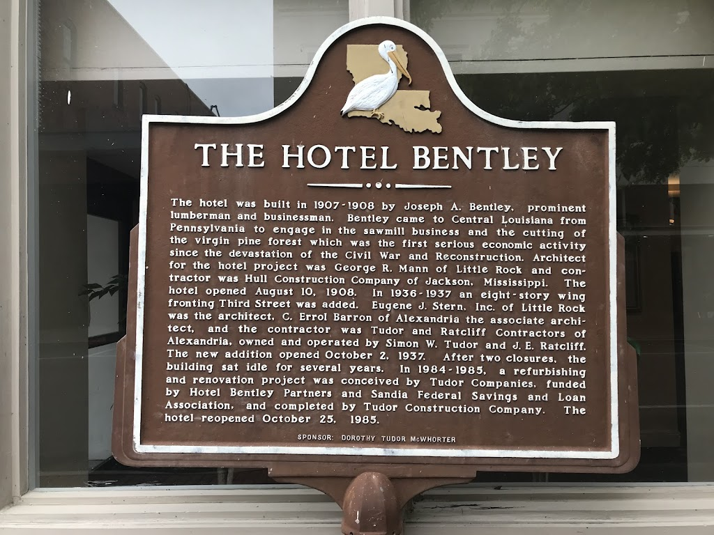 The hotel was built in 1907-1908 by Joseph A. Bentley, prominent lumberman and businessman. Bentley came to Central Louisiana from Pennsylvania to engage in the sawmill business and the cutting of ...