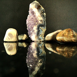 Rock crystals and pebbles by Janette Ho - Artistic Objects Still Life