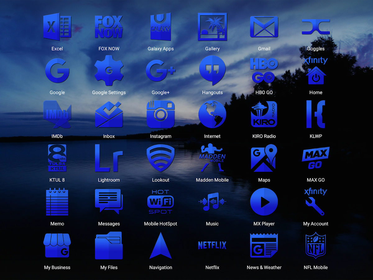 Tap Blue - Icon Pack Screenshot 10