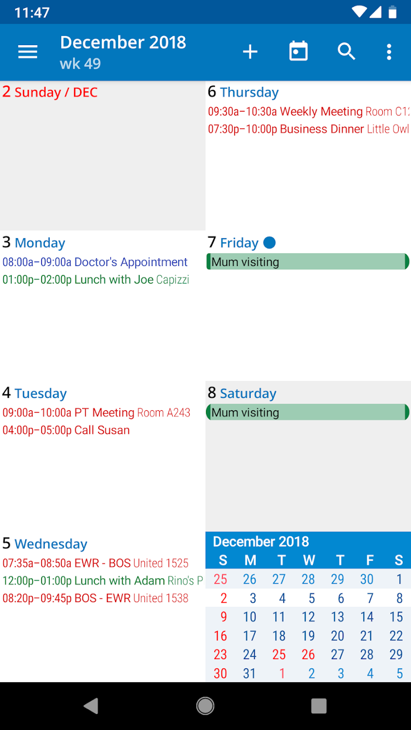 aCalendar+ Calendar & Tasks Screenshot 5