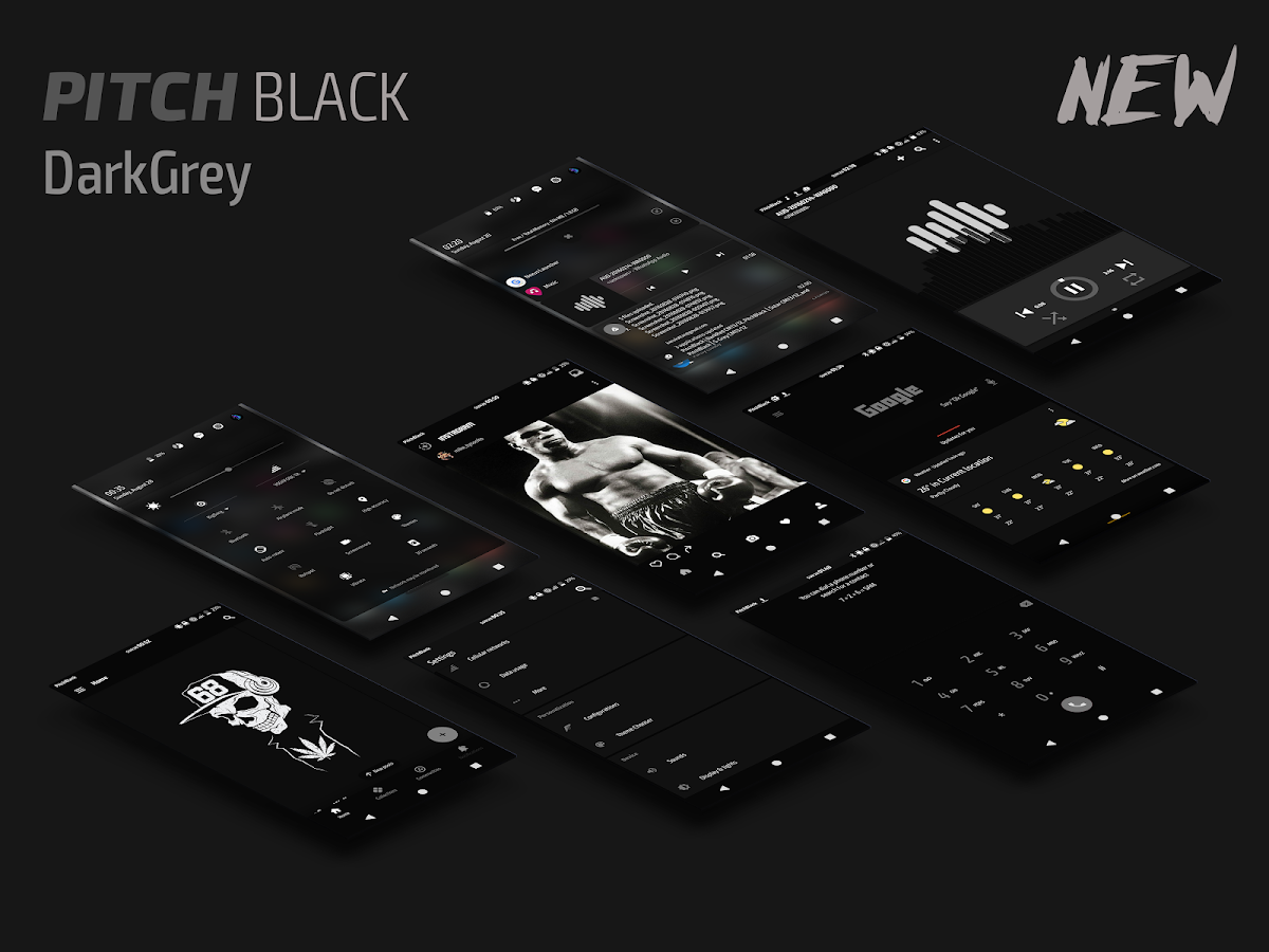 PitchBlack | DarkGrey CM13/12 Screenshot 0